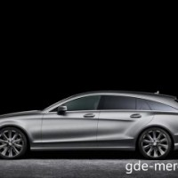 : Mercedes CLS Shooting Brake вид сбоку