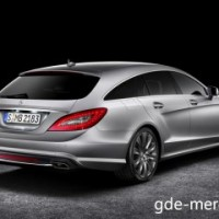 : Mercedes CLS Shooting Brake сзади