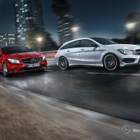 Mercedes CLA-klass Shooting Braike: справа спереди